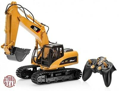 RC Excavator Tractor Toy Remote Control Truck Metal Digger Vehicle Full Function • 85.67£