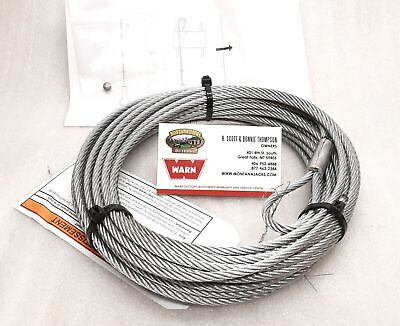 $58.76 • Buy WARN 60076 ATV Winch Cable, Wire Rope, 3/16 X 50 Ft. Fitment In Listing