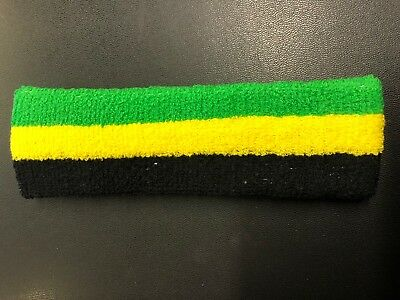 Jamaica Black Yellow Green Headband Roots Reggae Rasta • 3.50£