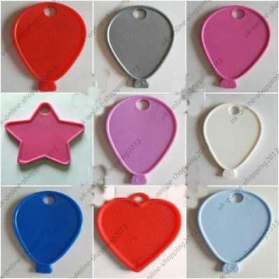 £3.49 • Buy  5-100-COLOUR-Balloon Shape-Weight-Plastic-For-Helium-Foil-Ballons-Any-Occasions
