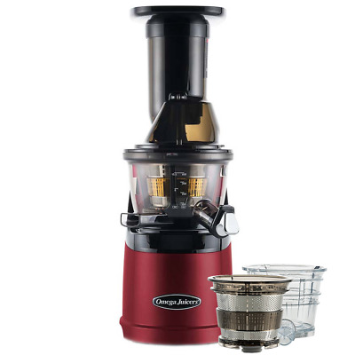 Omega MMV702R Mega Mouth Slow Juicer With Accessories In Red • 449£