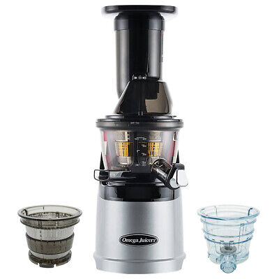 Omega MMV702S Mega Mouth Slow Juicer With Accessories In Silver • 449£