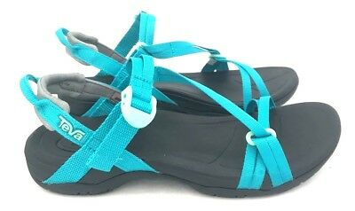 3c86e20e6 Teva Sirra Women s Hiking Lightweight Sport Sandals Black   Tile Blue Size  5-11 •