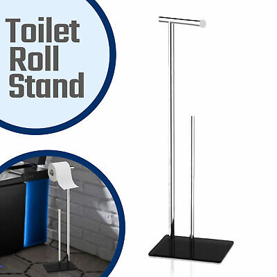 £14.79 • Buy Toilet Paper Holder Free Standing Loo Roll Tissue Dispenser Storage Stand New