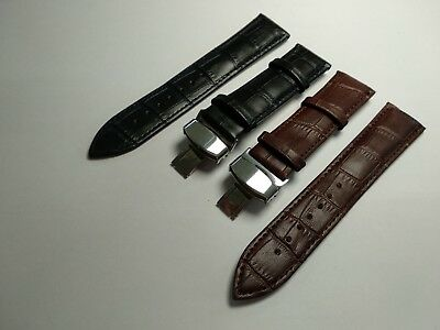 £14.90 • Buy Genuine Leather Strap/Band Fit  HAMILTON ACCURIST Watch CLASP 18-24mm Free Tools