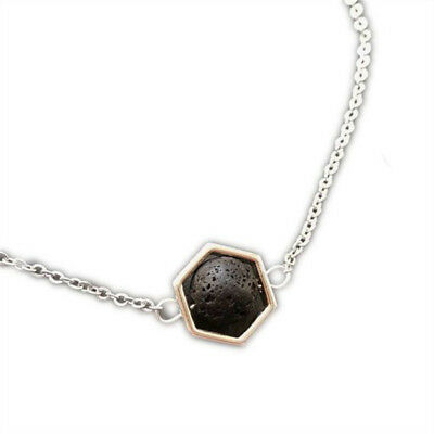 AU3.27 • Buy Hexagon & Lava Essential Oil Necklace Diffuser Lava Rock Aromatherapy Jewelry