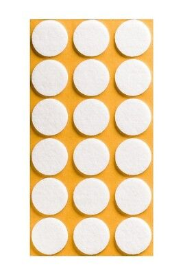 Self Adhesive Felt Sticky Pads Circle Round Tabs Floor Anti Scratch • 1.99£
