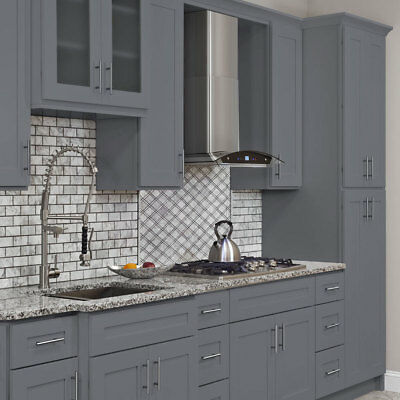 $1650 • Buy 10x10 ALL WOOD Kitchen Cabinets Colonial Gray Fully Upgraded Group Sale