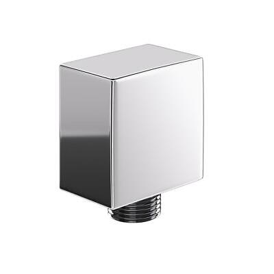 £7.99 • Buy Bathroom Square Shower Hose Wall Outlet Elbow Modern Chrome Connector 1/2  Bsp