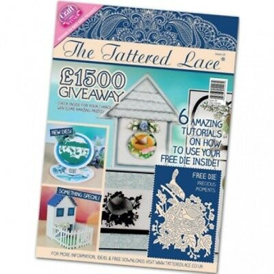Tattered Lace Magazine Issue 25 With Free Precious Moments Die Set - New • 7.79£