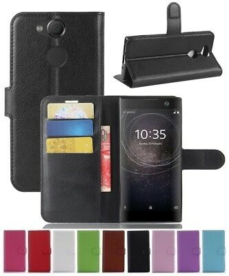 AU5.89 • Buy Wallet Leather Flip Card Case Pouch Cover For Sony Xperia XA2 Genuine AuSeller