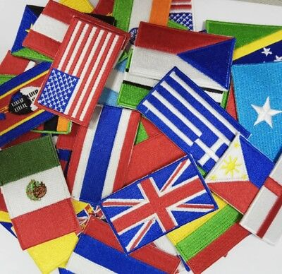 NATIONAL COUNTRY EMBROIDERED FLAG SEW ON/ IRON ON PATCH APPROX 6cm X 3.5 Cm • 1.99£