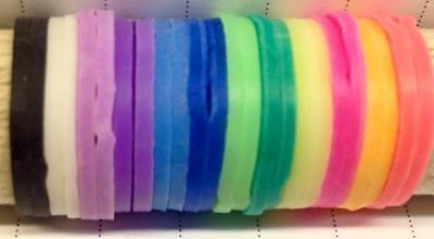 Rubber-Poultry-Pigeon-Quail-Plaiting-Equine-Chicken-Chick-Leg Rings-12 Colours • 2.09£