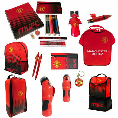 Manchester United FC Back To School Gym Backpack Boot Bag Bottle For Boy & Girl • 9.95£