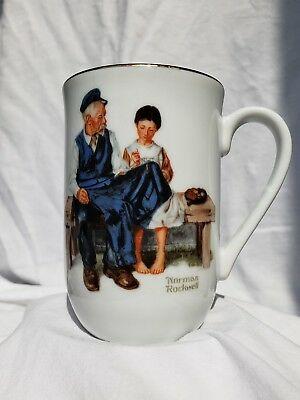 $ CDN15.06 • Buy The Lighthouse Keeper's Daughter 1982 Norman Rockwell Museum Collectible Cup Mug
