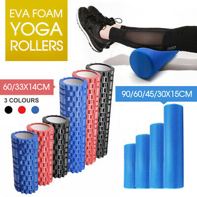 AU22.99 • Buy Eva Physio Foam Roller Yoga Pilates Exercise Back Home Gym Massage 30/45/60/90cm