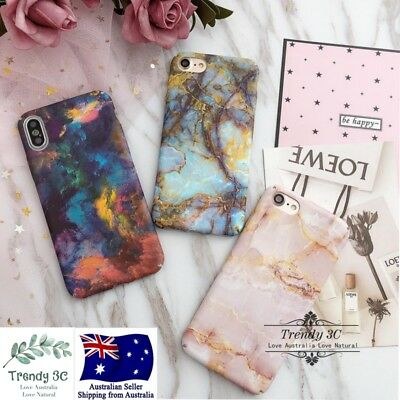 AU8.99 • Buy IPhone 6 6s 7 8 Plus X Marble Pattern Funny Hard Fashion Bling Case Cover