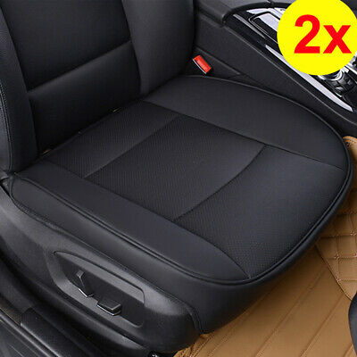 AU56.99 • Buy 2x PU Black Full Surround Leather Car Front Seat Cover Breathable Chair Cushion