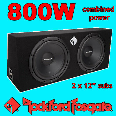 Twin 12 Inch Sub Box Package Rockford Fosgate Prime Bass Upgrade 800w Peak Power • 189£