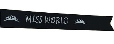 Miss World Pageant Award Personalised Sashes Design Your Own • 2.99£
