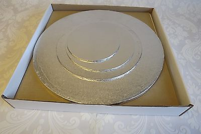 £24 • Buy W11 - Wedding / Tiered Cake Box & Round BOARD Set For 4 Tier Stacked Cake