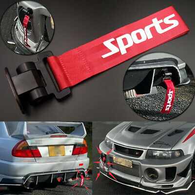 AU12.69 • Buy Red Universal Car Racing Sports Tow Hook Strap Front Rear Bumper Decoration