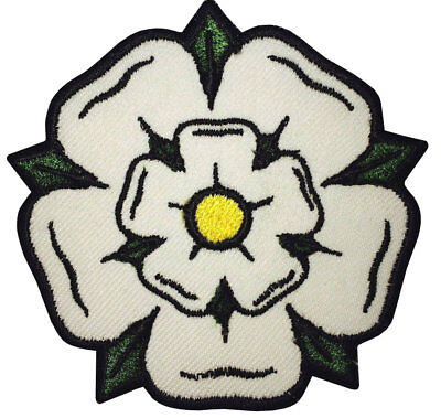 £3.99 • Buy Yorkshire White Rose Patch (3 Inch) Iron-on Badge Beautiful Flower Applique Rare
