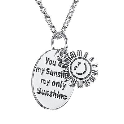 AU7.59 • Buy Romantic Love Gift You Are My Sunshine My Only Sunshine Sun Pendant Necklace