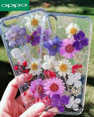 AU6.99 • Buy ForOPPO R15 A57 R11s R9s Pattern Funny Pressed Flower Dried Real Soft Case Cover