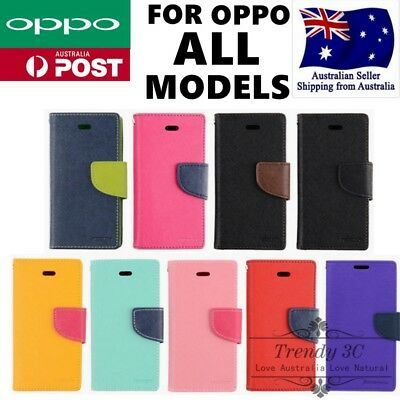 AU10.95 • Buy For OPPO R15 A57 A73 R11s R9 Plus Wallet Flip Open Stand Card Slots Case Cover