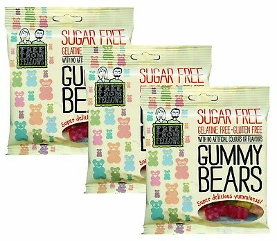 $10.52 • Buy Free From Fellows Sugar Free Gelatine Free And Gluten Free Gummy Bears (3 Pack)