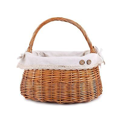Handbag Shaped High Handle Wicker Shopping Baskets Collection Gift Hamper Fabric • 12.34£
