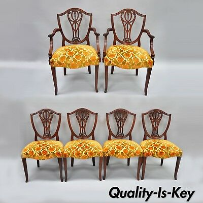 $2750 • Buy Drexel Wallace Nutting Solid Mahogany Shield Back Dining Room Chairs Set Of 6