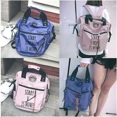 $25.99 • Buy KPOP BTS Backpack Bangtan Wings Shoulder Book Bag Handbag Student Girl Boy