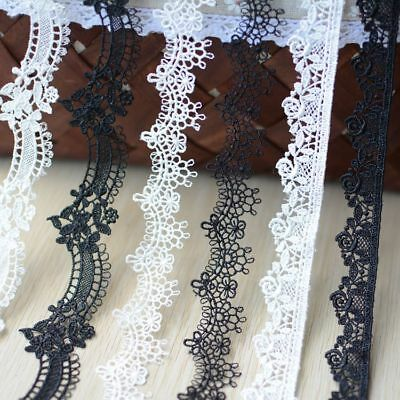 £5.99 • Buy Guipure Bridal Dress Lace Edging Corded Costume Trim Embroidery DIY Ribbon 3 M