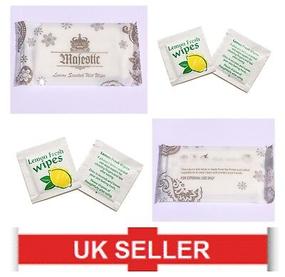 Individually Wrapped  | LEMON SCENTED FRESH WET WIPES | Fragrant Hand Wet Towel • 3.99£