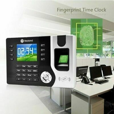 Realand Fingerprint Employee Attendance Tracking System Clocking In Machine NEW • 139.95£
