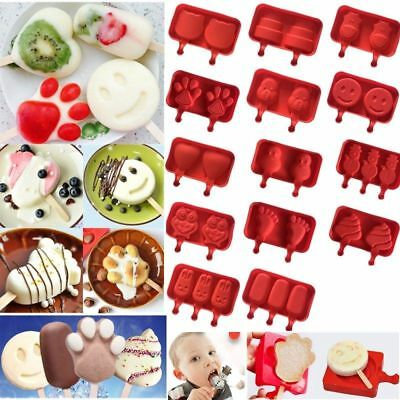 Ice Cream Mold Silicone Ice Lolly Maker Frozen Mould Popsicle Chocolate Tray Pop • 3.18£