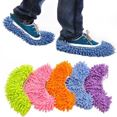 Dust Mop Slippers Shoes Floor Cleaner Clean Easy Bathroom Office Kitchen • 2.99£