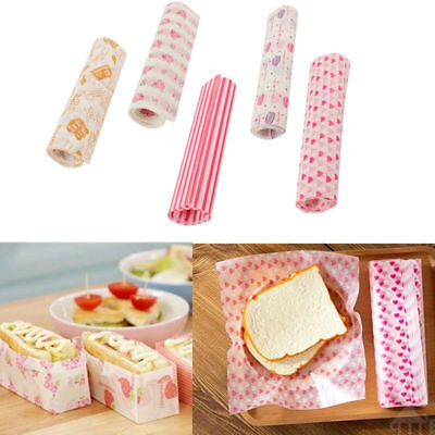 £2.99 • Buy 50Pcs Wax Paper Disposable Food Wrapping Greaseproof Paper Soap Packaging Paper