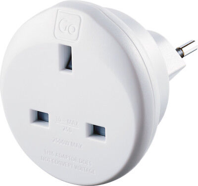 Go Travel UK To Swiss Earthed Compact Travel Adaptor (Adapter Ref 534) • 9.99£