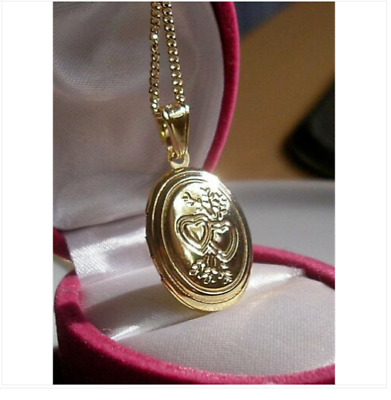 9ct Oval Locket On Chain Necklace Gf LIMITED OFFER - 9ct Gold Bling 98 • 24.95£