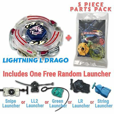 AU10.99 • Buy Lightning L-Drago BB-43 Beyblade + Free Launcher & Tips / Parts / Card Gift Pack
