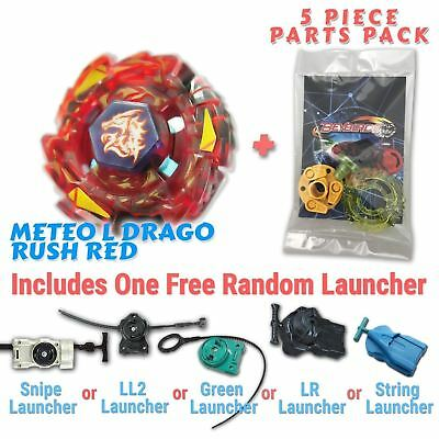 AU10.99 • Buy Meteo L-Drago Rush Red BB-98B Beyblade W/ Free Launcher & Tips / Parts / Card