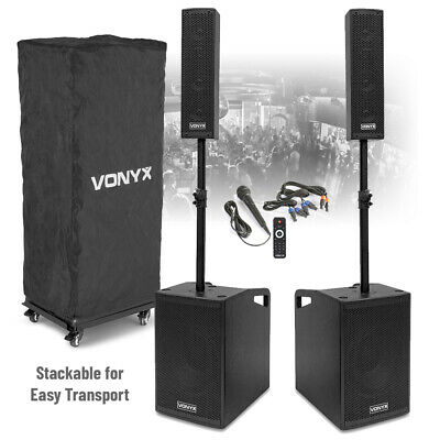 VX1050 Active PA Speaker System With Mounts & Mic Bluetooth Loud Mobile DJ Set • 399£