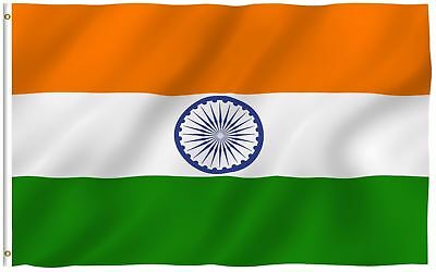 $4.94 • Buy 3X5 INDIA FLAG INDIAN COUNTRY FLAGS NEW BANNER Nylon Polyester