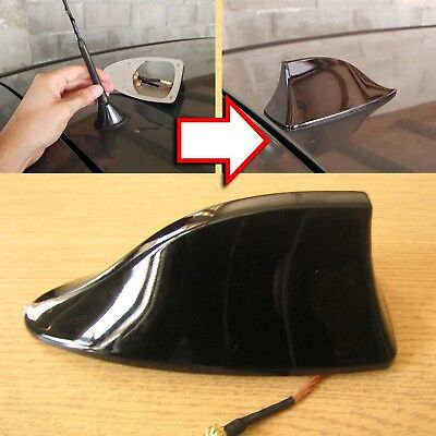 £17.99 • Buy Replacement Car Roof Shark Fin Style Aerial Active Radio Antenna Universal Black