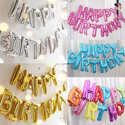 £2.99 • Buy HAPPY BIRTHDAY 16 Inch SELF-INFLATING BALLOON BANNER BUNTING PARTY LARGE BALOONS