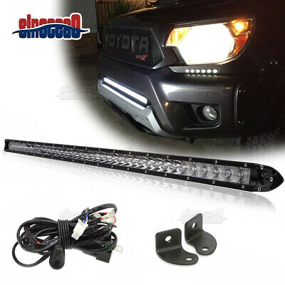 $61.55 • Buy 30  150W Slim LED Light Bar Lower Bumper Grille +Wiring For Toyota Tundra Tacoma