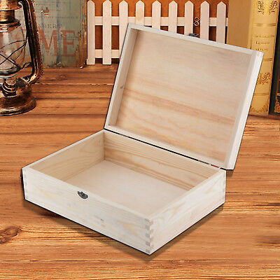 A4 Size Documents Magazine File Storage Wooden BOX Plain Unpainted Craft Box • 9.89£